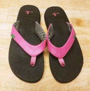 Sanuk Shoes - 7 Hot Pink Sanucks